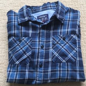 American Eagle Outfitters Blue Button Down